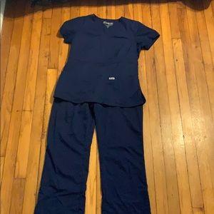 Navy Greys Anatomy scrubs